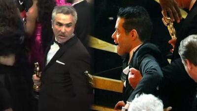 El mejor actor de los Oscar cae (literalmente) a los pies de Alfonso Cuarón
