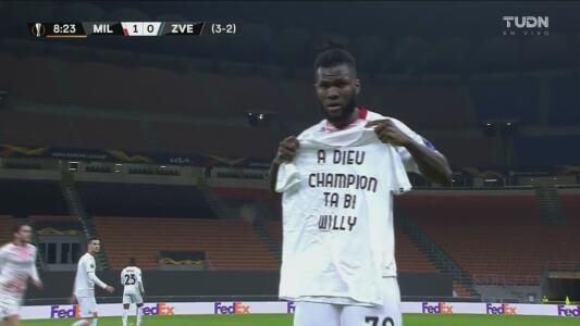 ¡Muy emotivo! Kessié anota el 1-0 de penal y su gol tuvo una dedicatoria