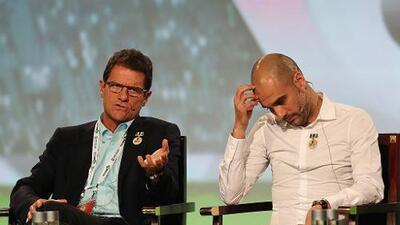 Guardiola y Capello, los técnicos galardonados en el World Soccer Congress