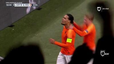 ¡GOOOL! Virgil van Dijk anota para Netherlands