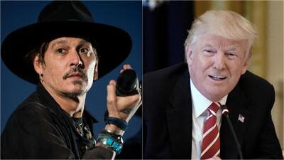 Controversial declaración del actor estadounidense Johnny Depp sobre el presidente Trump