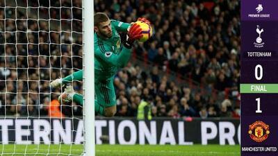 De Gea anuló al Tottenham y dio victoria al Manchester United