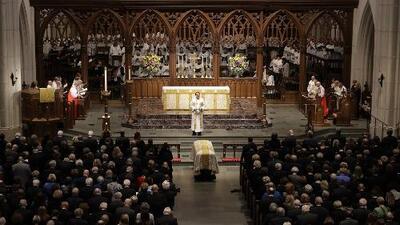 En solemne funeral, Estados Unidos despide a Barbara Bush