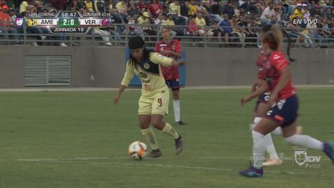 Jana Gutiérrez se sumó al frente y generó el 2-0 de Lucero Cuevas en el América-Veracruz