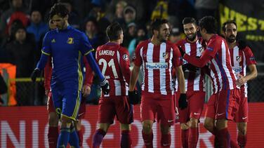 Atlético de Madrid sacó un valioso triunfo de Rusia ante el Rostov