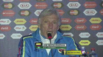 """José Pékerman: """"Hay que tener equilibrio"""""""