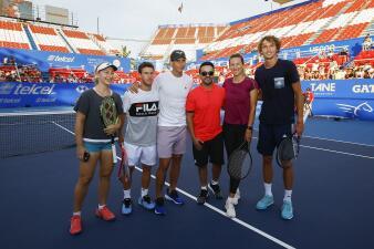 Último día de relajación previo al arranque del Abierto Mexicano de Tenis