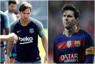 Messi le dijo adiós a su barba y volvió a su look de la temporada 2015/16