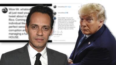 """Marc Anthony responde al """"tuit demente"""" de Donald Trump sobre Puerto Rico y tilda al presidente de """"espantoso"""""""