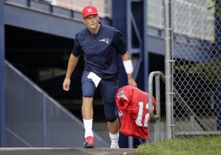 Tom Brady cumplió 40 años y así lo celebró en el training camp de los Pats