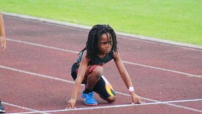 Rudolph Blaze, el niño de siete años que va por el reinado de Usain Bolt