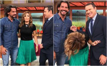 En fotos: Cristián de la Fuente hizo sonrojar con sus encantos a Karla Martínez