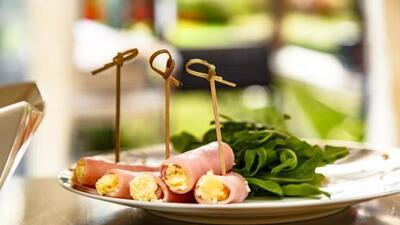 Rollos de jamón + pepino con queso cottage   | Reto 28
