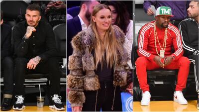 Beckham, Wozniacki, Mayweather y más celebridades que se tomaron las tribunas de la NBA esta semana