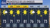 Cielo despejado y condiciones frescas, el pronóstico del tiempo para la mañana del viernes en Los Ángeles