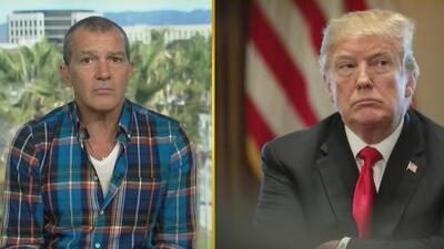 Antonio Banderas dice que más allá del muro físico, Trump está creando un muro entre dos pueblos