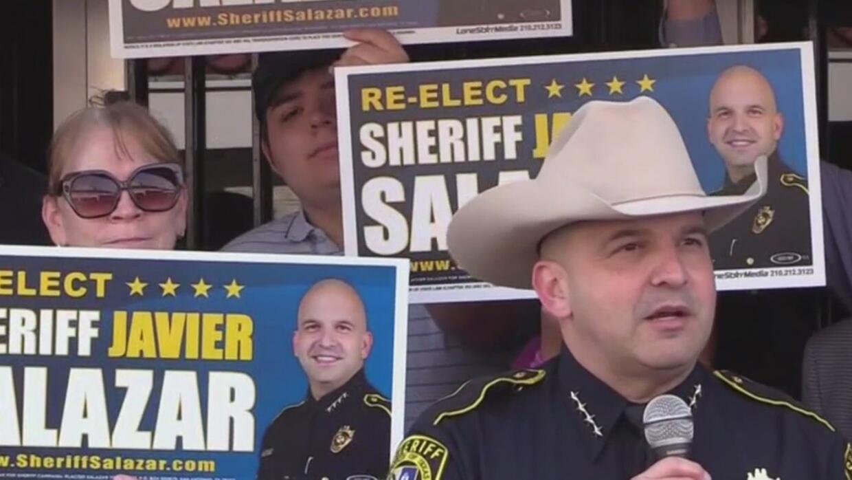 El alguacil del condado Bexar, Javier Salazar, anuncia su campaña por la reelección - Univision
