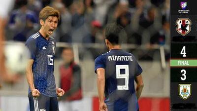 Uruguay extraña a Luis Suárez y pierde con Japón en amistoso