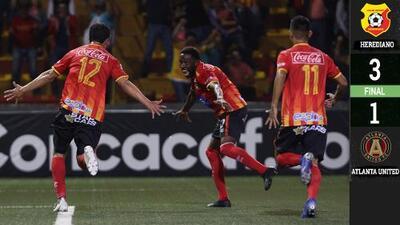 Herediano le pintó la cara al Atlanta United y toma ventaja importante en Concacaf