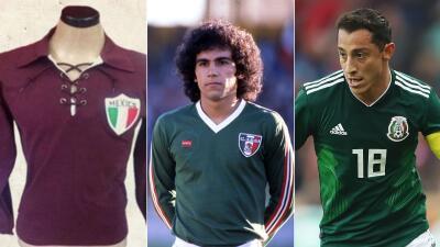 Las camisetas de la Selección de México en los Mundiales a través de los años