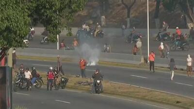 Tensión en los alrededores de la base militar donde se encuentran Juan Guaidó y Leopoldo López