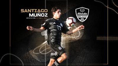 Santiago Muñoz, de Allstate Sueño Alianza a goleador del Tri Sub-17