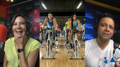 """""""Parecía Lance Armstrong"""": Omar y Argelia relataron su experiencia en una clase de spinning después de muchos años"""