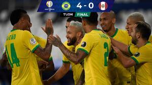 Brasil golea a Perú y Neymar está a nueve goles del récord de Pelé