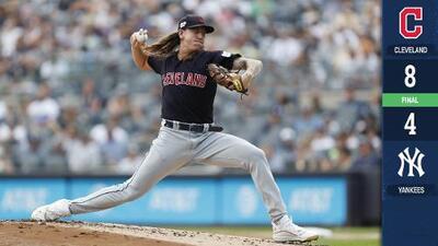 Indians y Yankees dividen triunfos en la serie