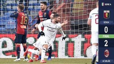 El Milan por fin gana, derrota al Génova y se aferra a los puestos de Champions League