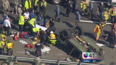 En condición crítica heridos en accidente con vehículo militar en New Jersey