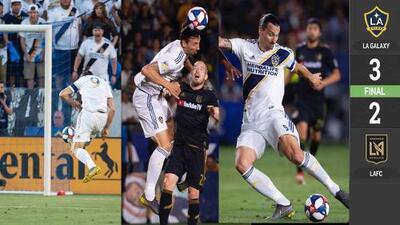 Zlatan le demuestra a Vela quién manda en el Derbi angelino con soberbio hat-trick
