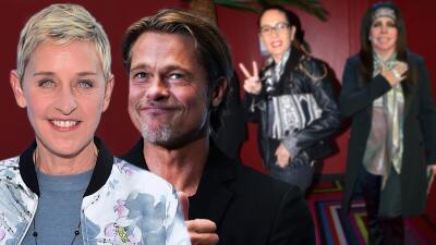 Ellen DeGeneres y Brad Pitt salieron con la misma mujer pero se reservaron el nombre (no como Yolanda Andrade)
