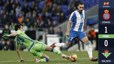 Sin Guardado por lesión, el Betis se acerca a puestos europeos al vencer al Espanyol