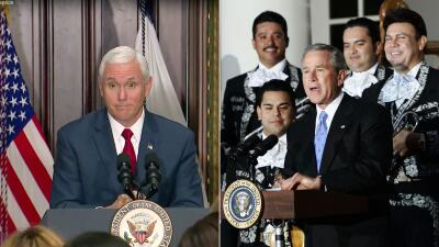 En fotos: encuentre las diferencias entre el cinco de mayo celebrado por Bush, Obama y Trump