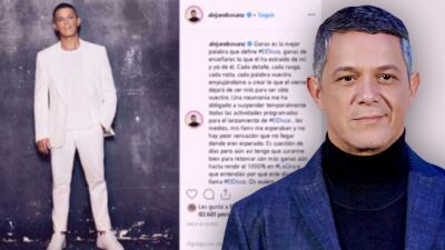 """""""No hay peor sensación que no llegar donde eres esperado"""": una neumonía frena a Alejandro Sanz"""