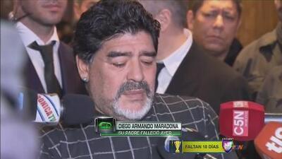 Diego Armando Maradona habló de la muerte de su padre
