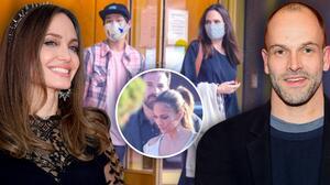 Igual que como comenzó con 'Bennifer': Angelina Jolie es sorprendida visitando a su ex Jonny Lee Miller