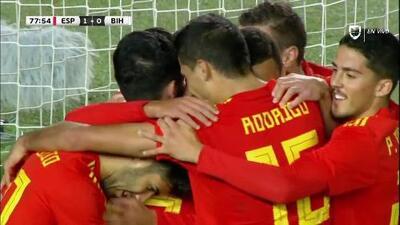 ¡Finalmente llegó el gol al partido! Brais Méndez marca para España