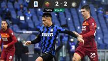 Roma rescata un punto ante Inter de Milán y se aleja del liderato