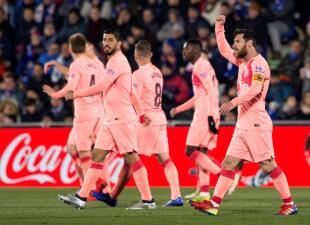 En fotos: Barcelona pasa dificultades pero gana en su primer partido del 2019