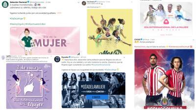 Día Internacional de la Mujer: el fútbol mexicano y sus mensajes en favor de ellas