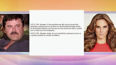 Textos comprometedores entre Kate del Castillo y el Chapo Guzmán