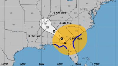 El huracán Irma se degradó a tormenta tropical mientras se desplaza por el norte de Florida