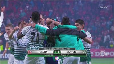 Pitazo final y Santos es el nuevo campeón del fútbol mexicano