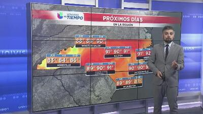 Tormentas regresarán en el sur de Carolina del Norte por la tarde del 10 de julio
