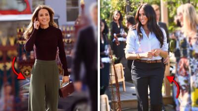 Kate Middleton se puso unos pantalones que tienen una conexión con su cuñada Meghan Markle (y otra curiosidad)