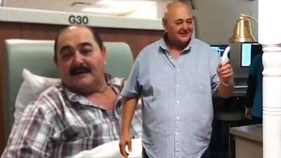 A paso corto y lleno de aplausos, líder de Los Huracanes del Norte termina su radioterapia contra el cáncer