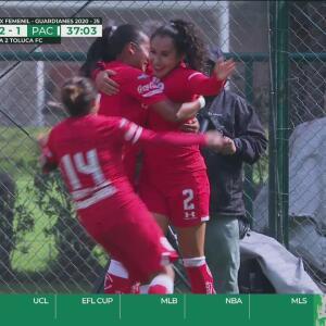 ¡Ya le dieron la vuelta! Yamanic Martínez consigue el 2-1 para Toluca con un cabezazo