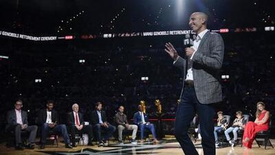 Los Spurs retiran el número de Manú Ginóbili, el latino más grande de la NBA